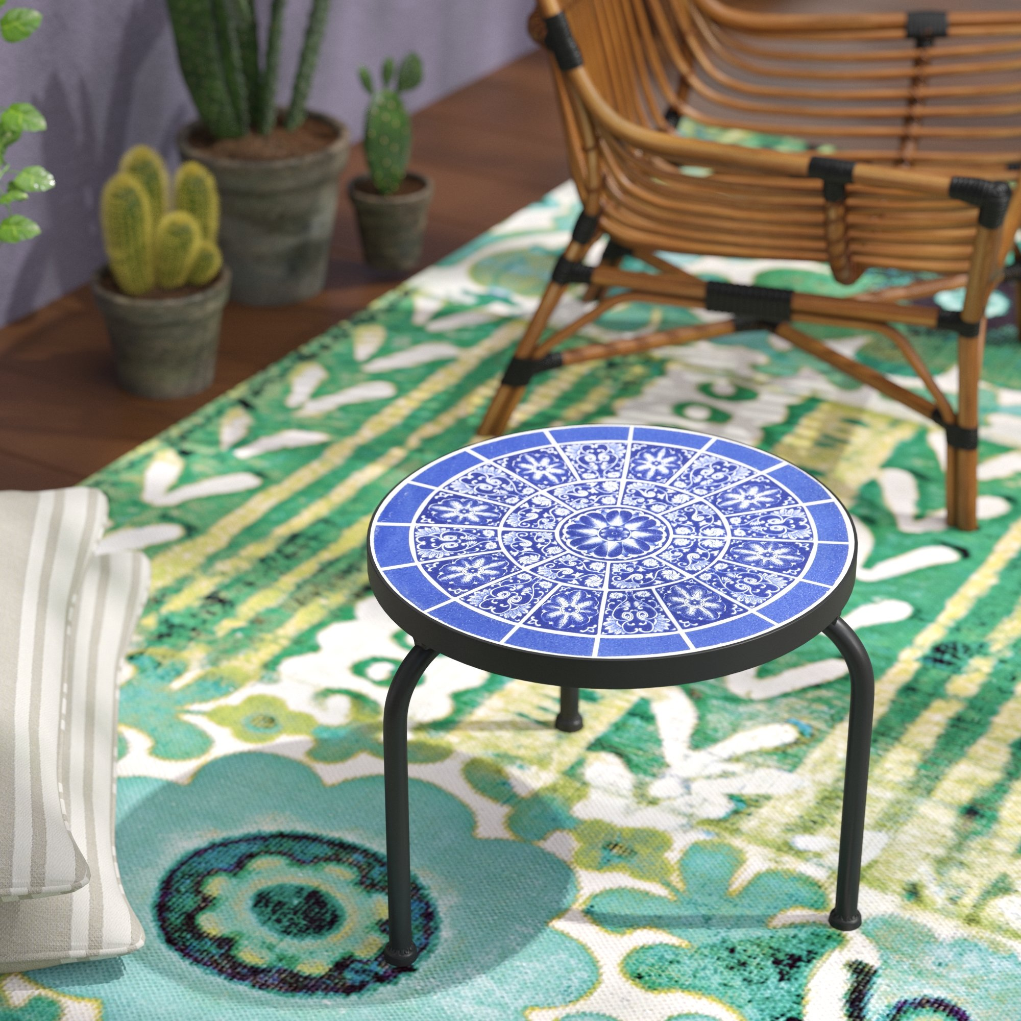 bungalow rose chittenden outdoor side table reviews blue black round coffee purple furniture uma and chairs with umbrella reclaimed wood end ikea kids storage boxes best drum