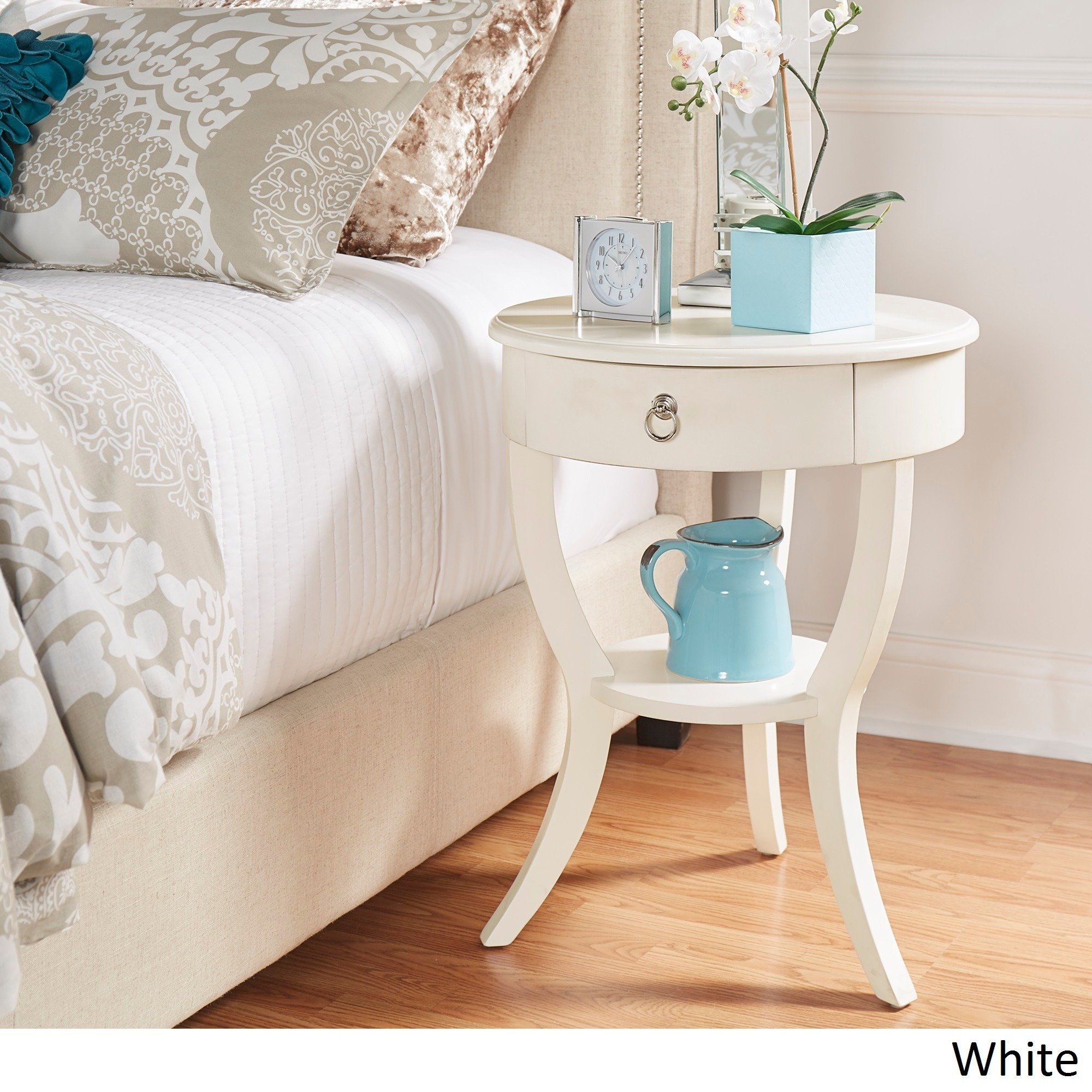burkhardt tripod round wood accent table inspire bold room essentials mixed material free shipping today coffee tray ideas tiffany shades couch tables target convertible dining