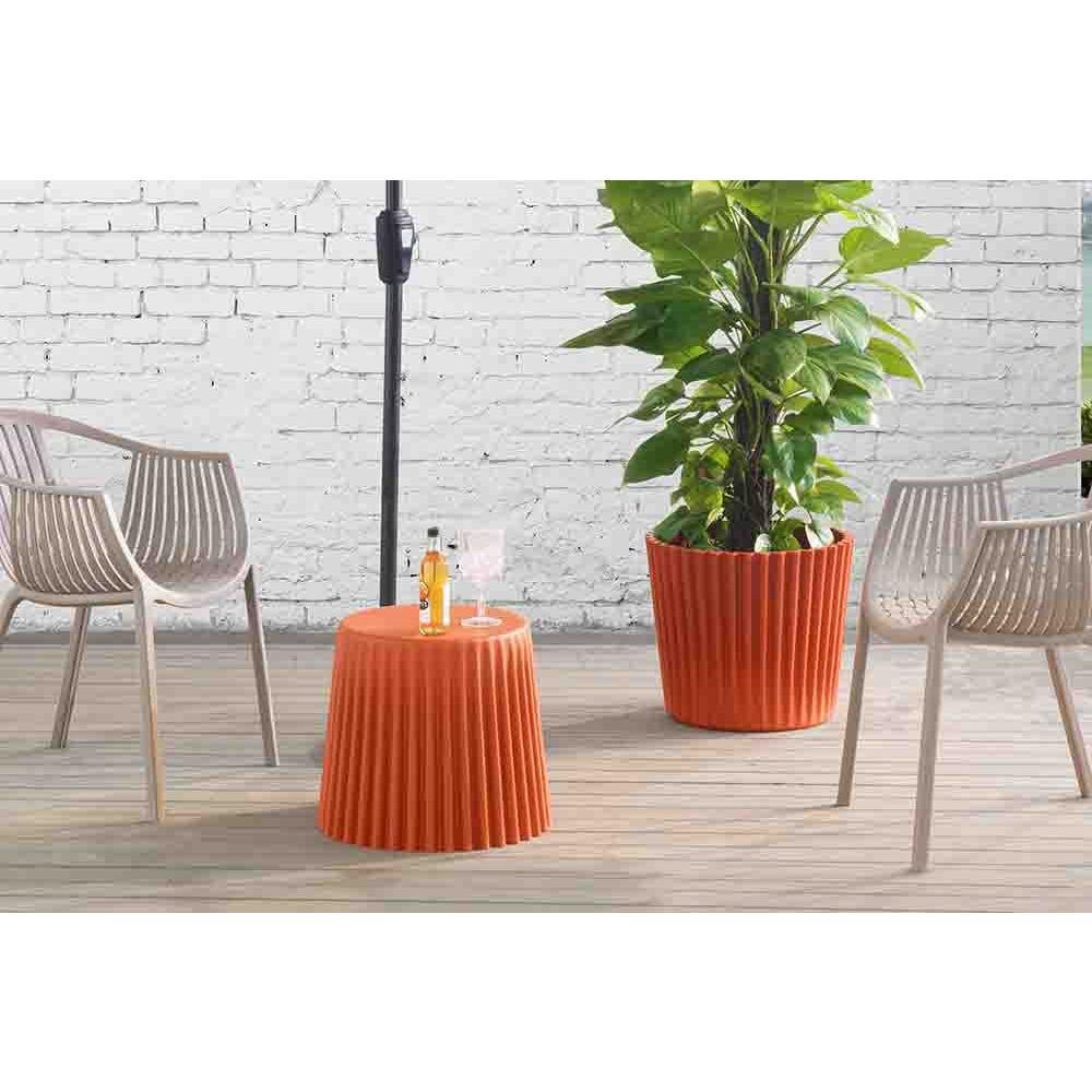 burnt orange side table planter free shipping today outdoor hairpin lamp design ikea dining set setting oriental style floor lamps corner furniture pieces black kitchen teak wood
