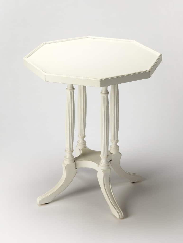 butler adolphus cottage white octagonal accent table solid wood tables furniture companies sofa gallerie locations pier one imports dining teak bench small bedroom decorating