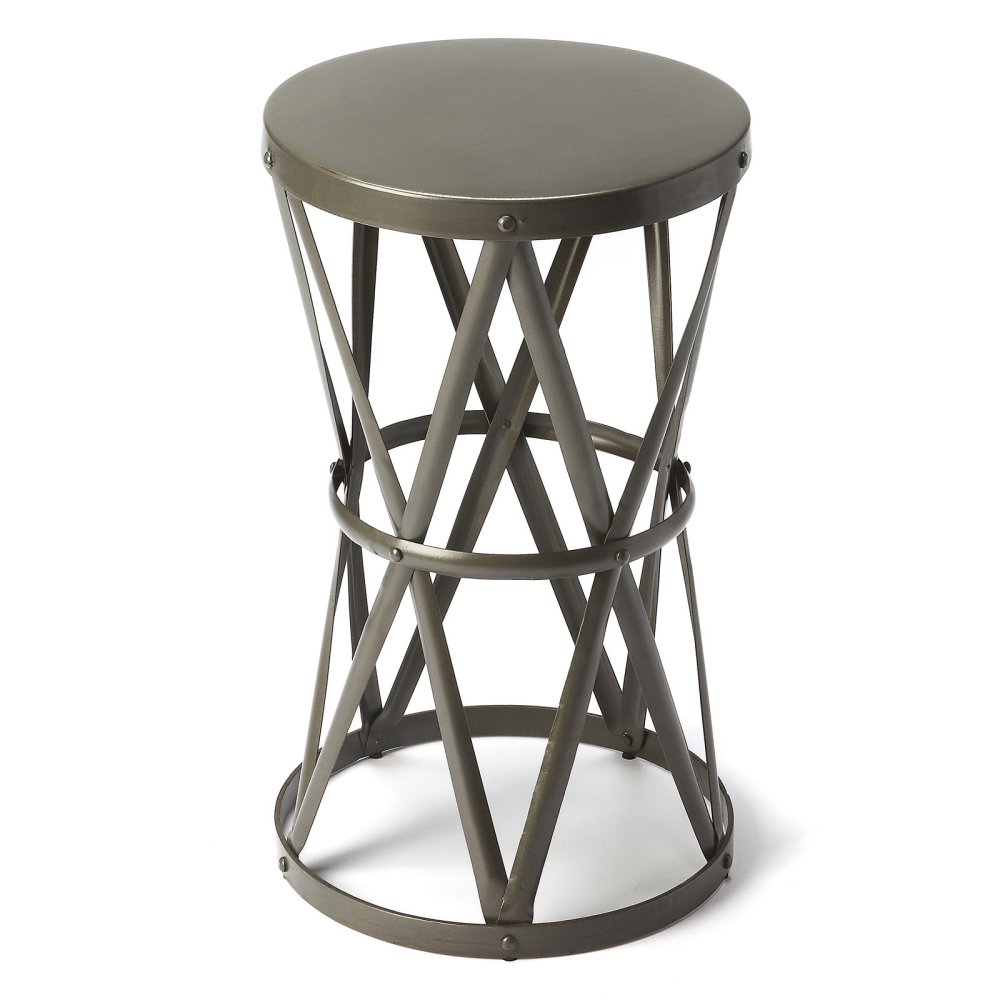 butler empire round iron accent table industrial chic master about this product stock ture nesting cocktail set timber trestle legs traditional dining room furniture large coffee