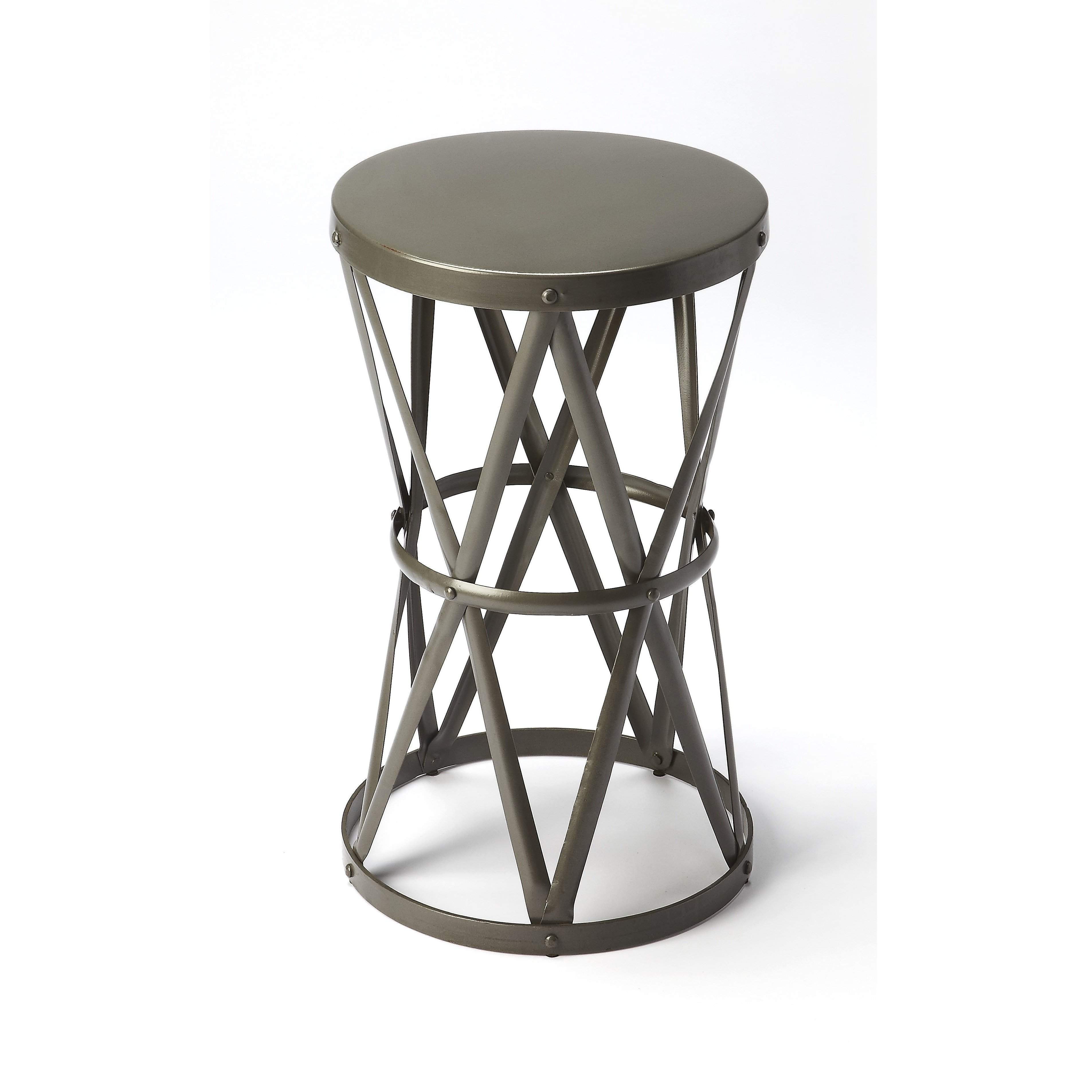butler empire round iron accent table rounding and products pinebrook garden storage bench seat tama drum throne contemporary lamps for living room small collapsible side pub