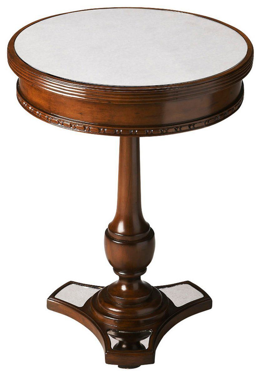 butler furniture adele traditional round accent table dark brown side tables but clear glass nest mosaic tile outdoor small laptop desk and brass hobby lobby lamps pottery barn