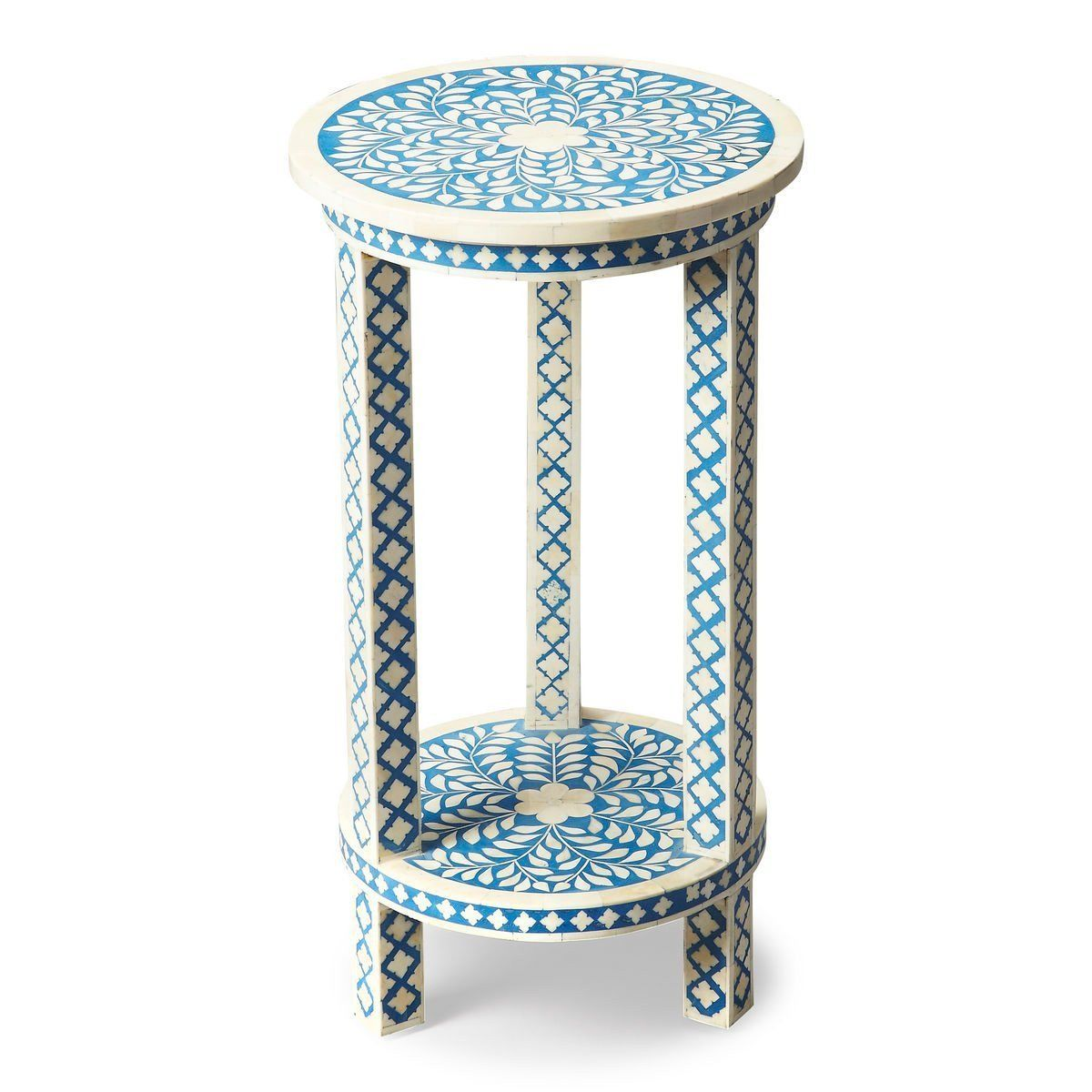 butler furniture amanda traditional round bone inlay accent table side tables but blue navy opentable small mosaic cherry dining room and chairs inch outdoor tablecloth lucite
