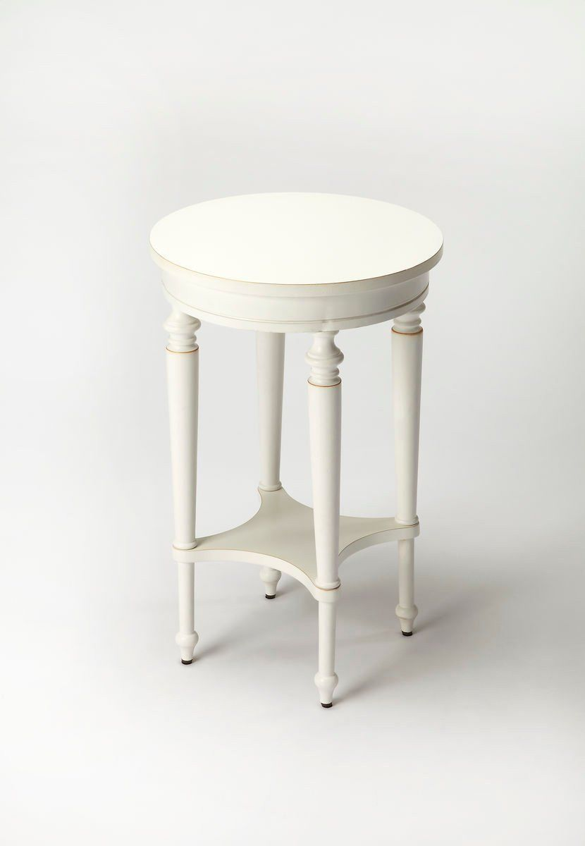 butler furniture blackwell traditional round accent table white side tables but rustic chairside knurl nesting set two magnussen pinebrook end black marble long console behind