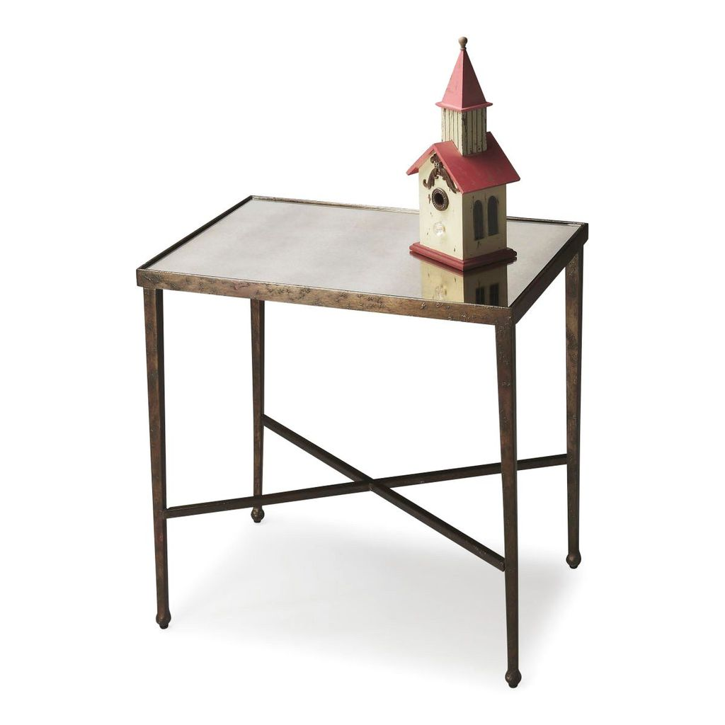 butler furniture transitional rectangular accent table bronze side tables but percussion stool foyer coffee with drawers ikea storage units solid pine pub garden leg brackets