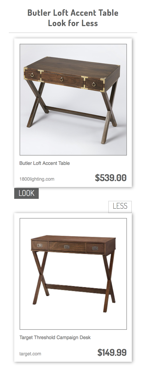 butler loft accent table target threshold campaign desk drawer white computer kohls coffee dark brown side crystal lamp tall thin end tables kitchen shades patio lounge furniture