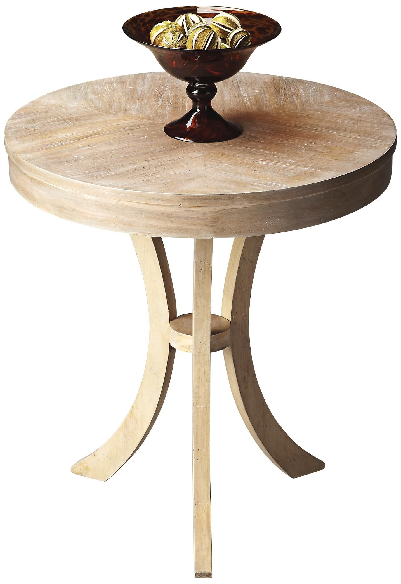 butler loft driftwood round side table lampsplus turpens pottery barn jamie accent joy target small nightstands for bedroom bunnings wicker outdoor setting ikea kids storage
