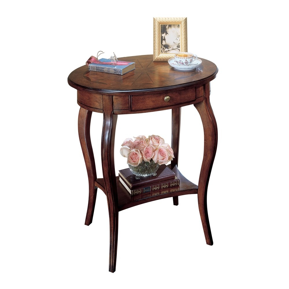 butler specialty classic cherry oval accent table pedestal chawston argos kitchen dining furniture distressed white wood end tables home goods tablecloths target ott small bedroom