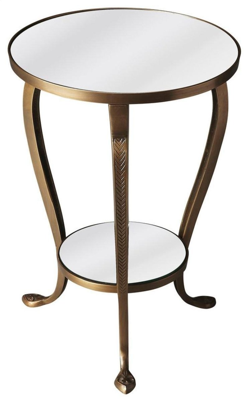 butler specialty company bowling green three melbuucmoydm mirrored glass accent table gloriously shaped etched and tapered cabriole legs carry the inspired design this hidden