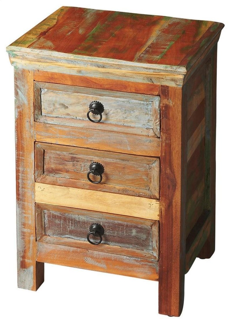 butler specialty company lecanto crafted from meskdgdmbcxh painted accent tables chests recycled wood solids multi colored hand finish ensuring bonafide hidden designer table