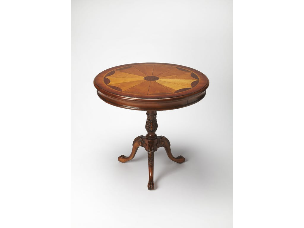 butler specialty company living room round pedestal table accent wood ridgemont furniture coffee and side night tables toronto brown entryway metal top end kitchen dining legs
