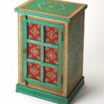 butler specialty company okemos express your melavldtoyfa emerald green accent table flair for the dramatic with this hand painted chest featuring beautiful floral threshold 150x150