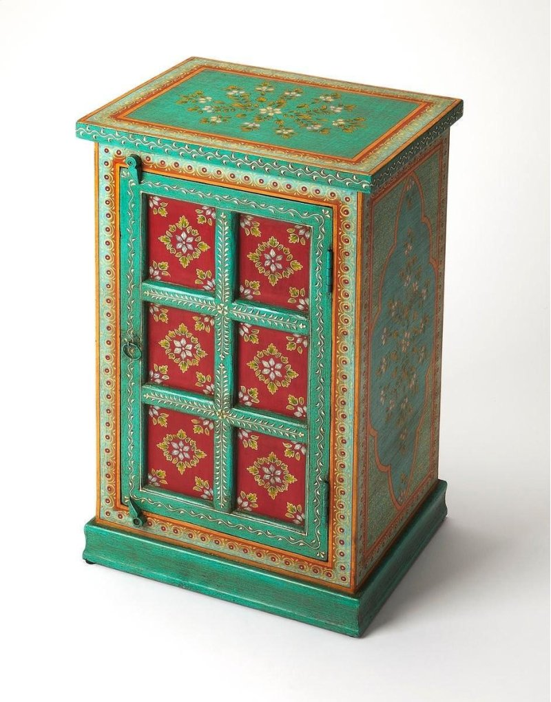 butler specialty company okemos express your melavldtoyfa emerald green accent table flair for the dramatic with this hand painted chest featuring beautiful floral threshold