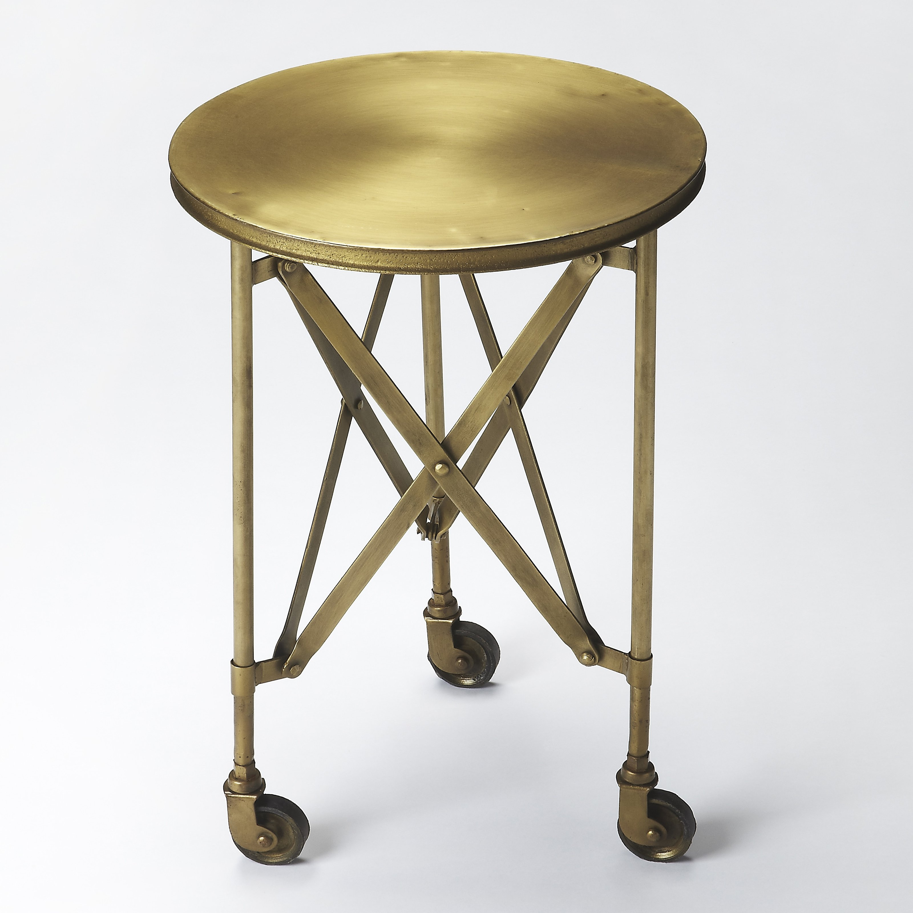 butler specialty industrial chic igan side table end elephant accent studded dining chairs corner ikea distressed tables polka dot tablecloth safavieh glass coffee round nautical