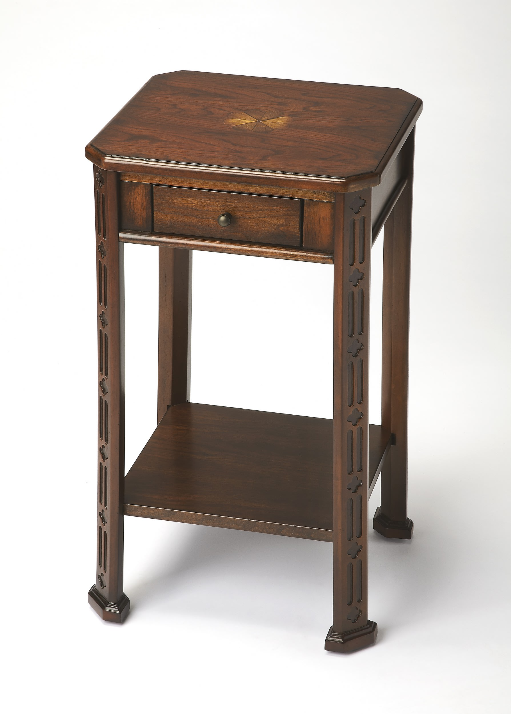 butler specialty masterpiece plantation cherry one drawer accent butlerspecialty table tiffany peacock floor lamp portable grill narrow console inches deep elastic covers drum