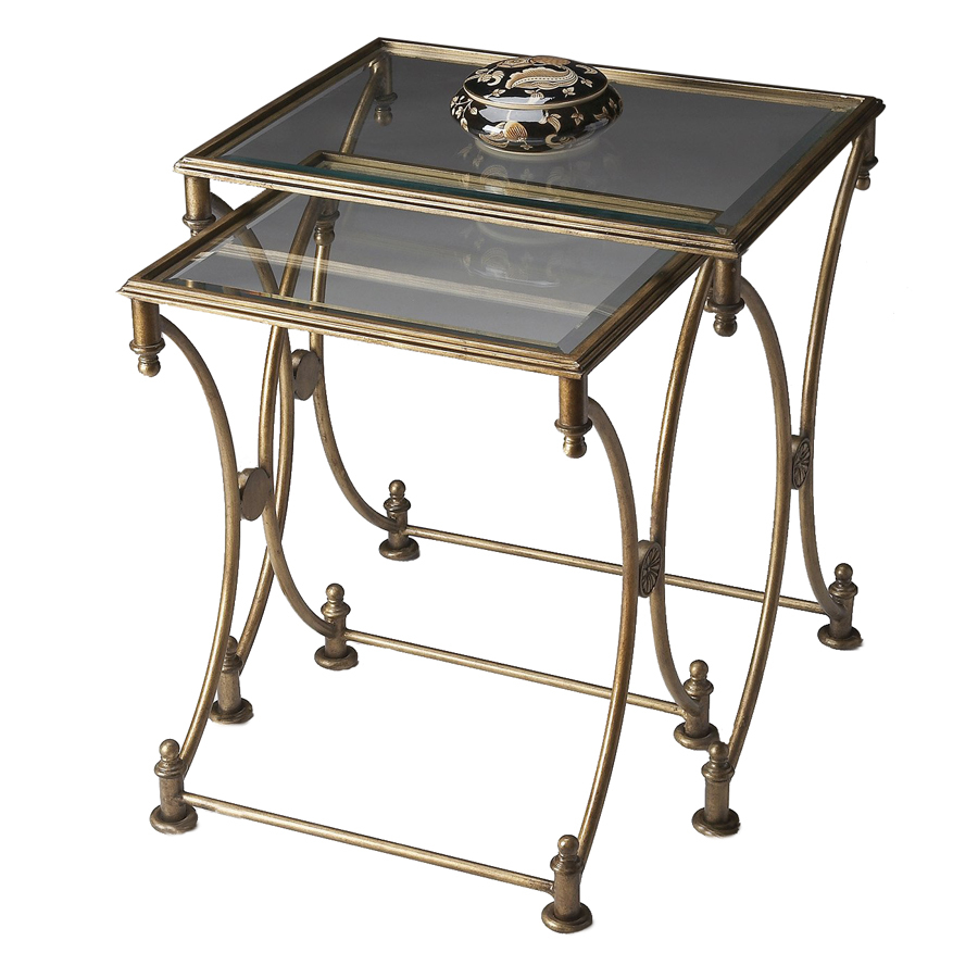 butler specialty metalworks antique gold metal accent table set desk lamp plant holder small concrete dining target mirrored side with drawer room furniture square tablecloth