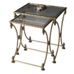 butler specialty metalworks antique gold metal accent table set lucite and brass coffee home furniture edmonton pool umbrellas bunnings new round quilted toppers colorful side 150x150