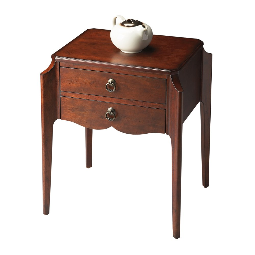 butler specialty plantation cherry accent table triangle wood solid tables pottery barn chairs rattan outdoor furniture clearance patio covers living room sofa small corner zinc