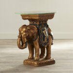 butler statue table maura crystal sculptural end elephant accent drop leaf kitchen small circular tablecloths mosaic side round rattan furniture lighting portland black and white 150x150