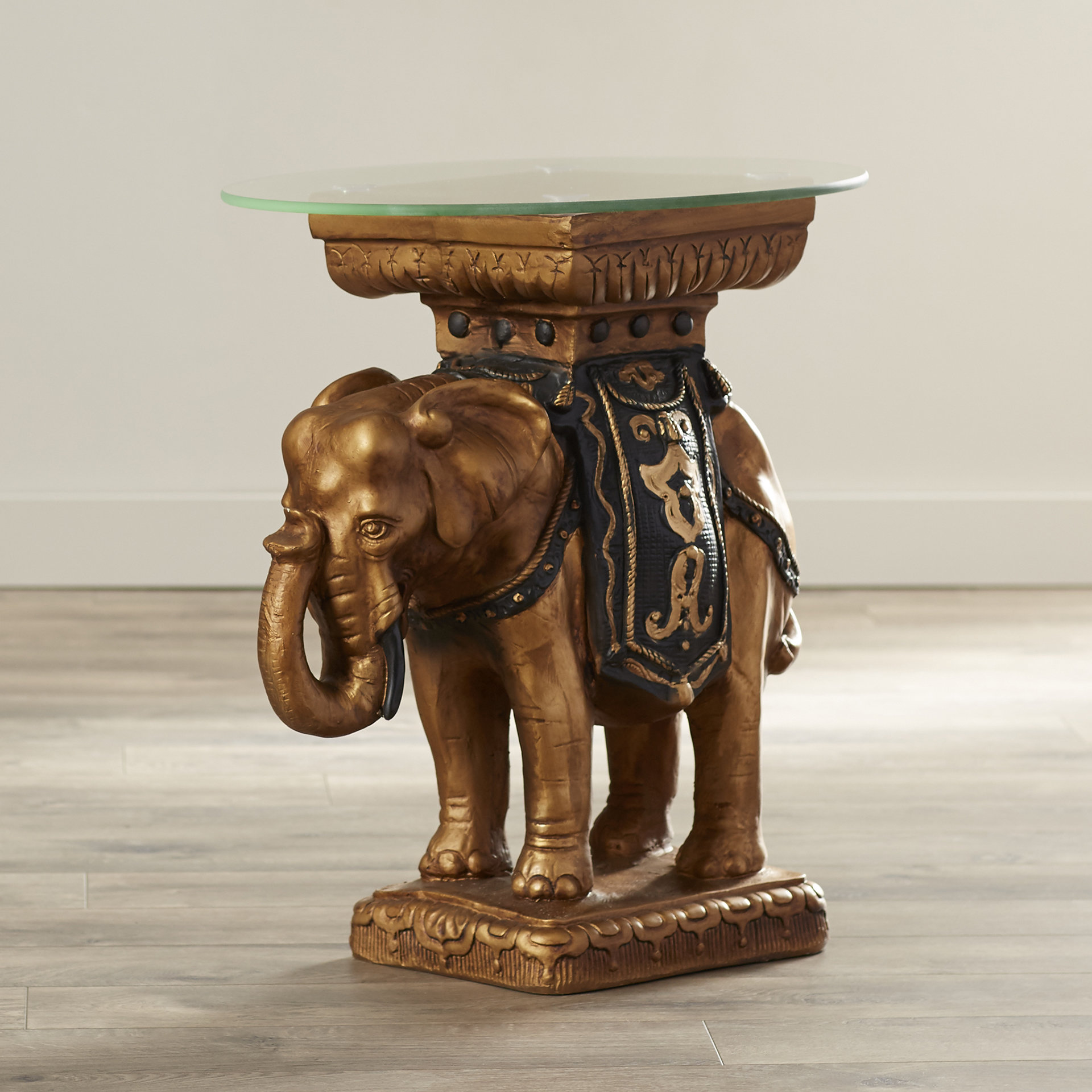 butler statue table maura crystal sculptural end elephant accent drop leaf kitchen small circular tablecloths mosaic side round rattan furniture lighting portland black and white