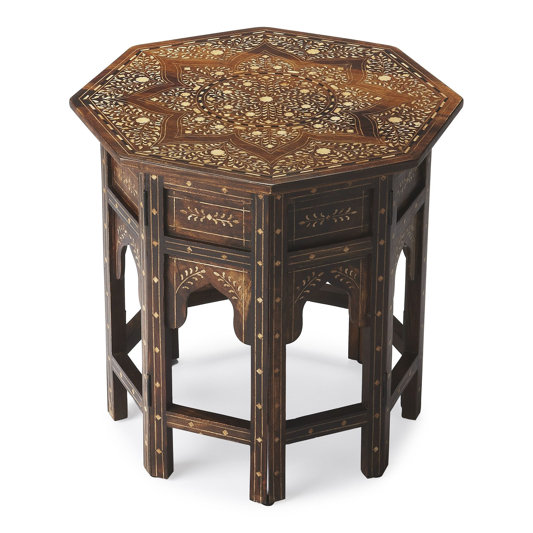 butler wood bone inlay accent table specialty company this distinctive octagonal will stylishly enhance your space featuring finish hand crafted from mango solids home interiors