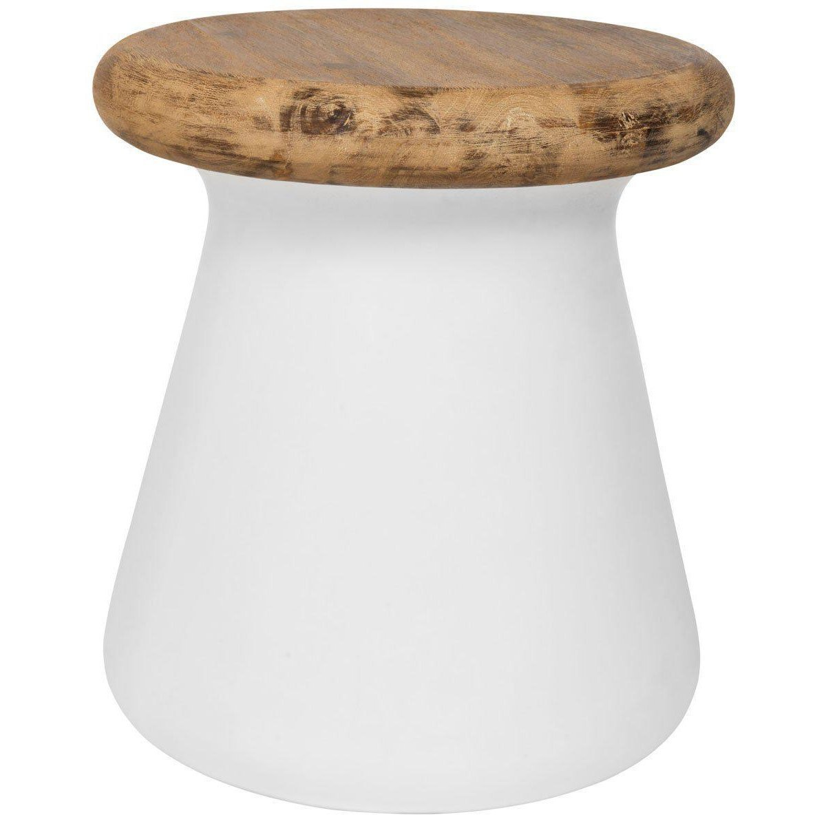 button modern concrete round inch accent table indoor outdoor indooroutdoor side small black brass drum white coffee and end tables ava furniture corner cabinet half moon piano