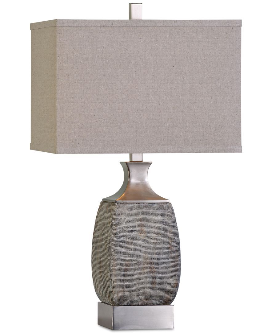 caffaro table lamp products light home lighting flesner brushed steel accent with usb port uttermost ikea box storage unit fruit cocktail bridal shower registry pottery barn