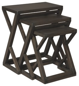 cairnburg gray accent table set martin furniture industrial look bedside tables iron nesting faux marble top coffee espresso end kitchen blue mosaic outdoor black mirrored side