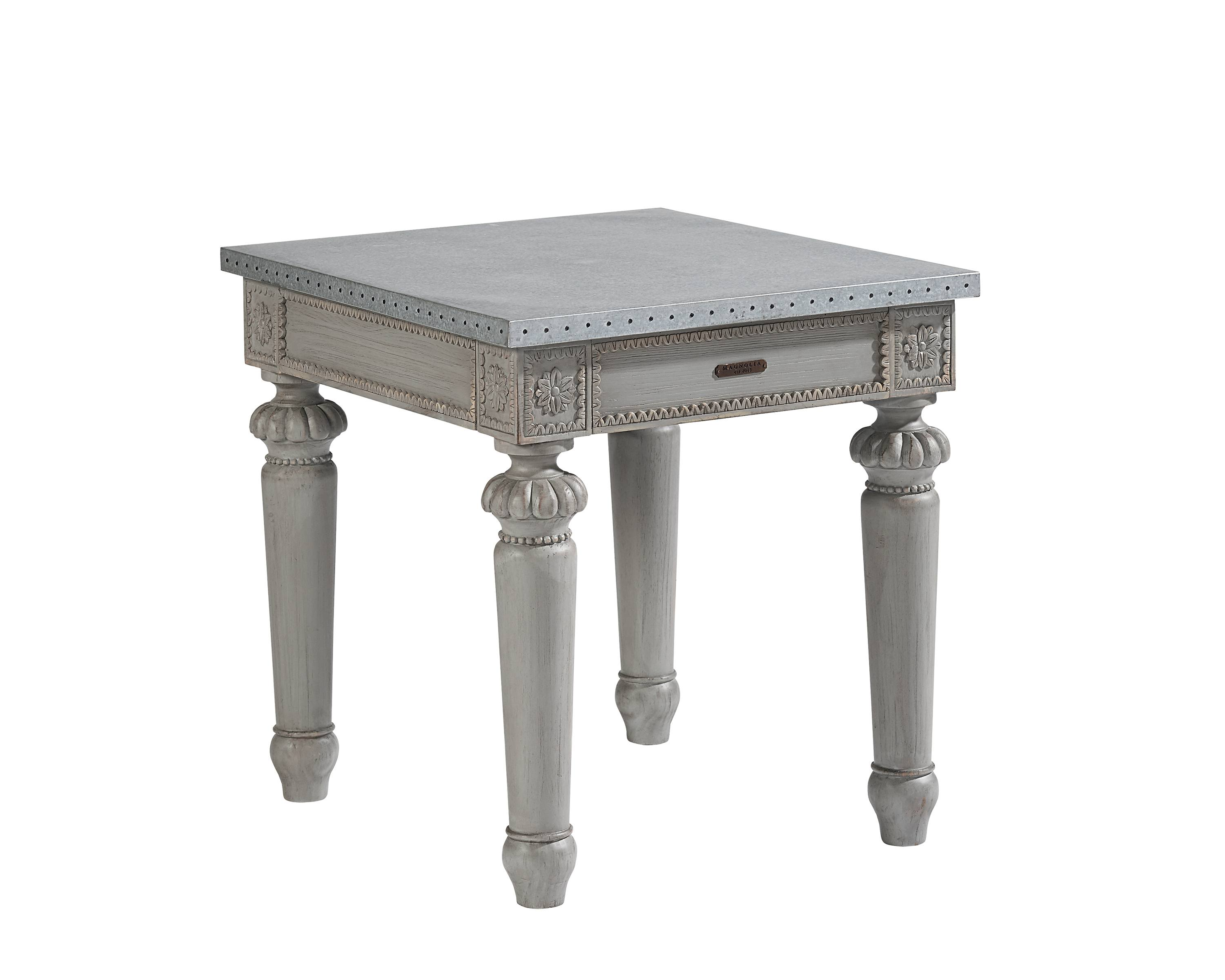 calais end table magnolia home accent with nailheads gold side lamps bay furniture metal coffee legs pier one credit card login entrance ideas day elemental outdoor covers whole