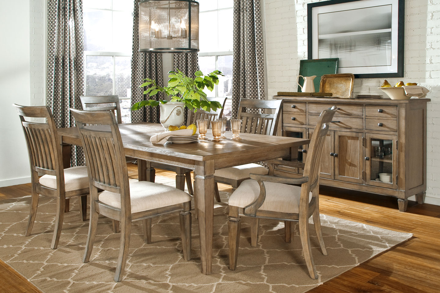calm dining table decors for with vintage dresser also grey room ideas curtain windows and wide glass rustic accent using selective furniture options outdoor cooler stand yard