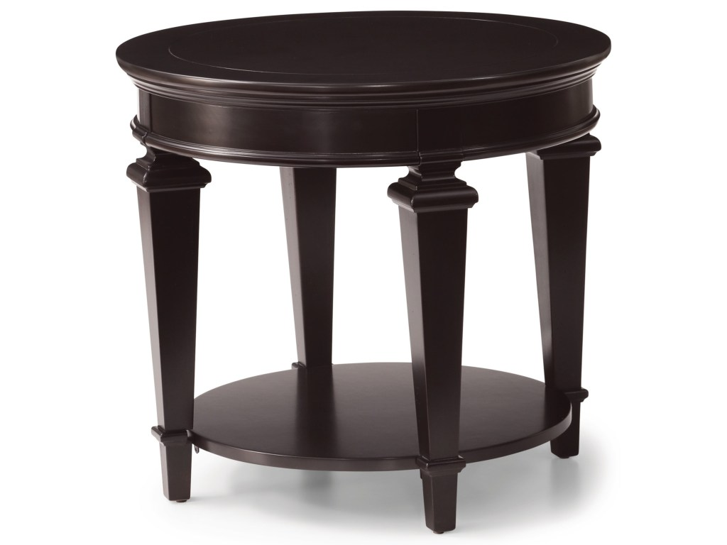 camberly traditional round accent table with bottom shelf wayside products flexsteel wynwood collection color fretwork threshold camberlyaccent narrow bar small console for