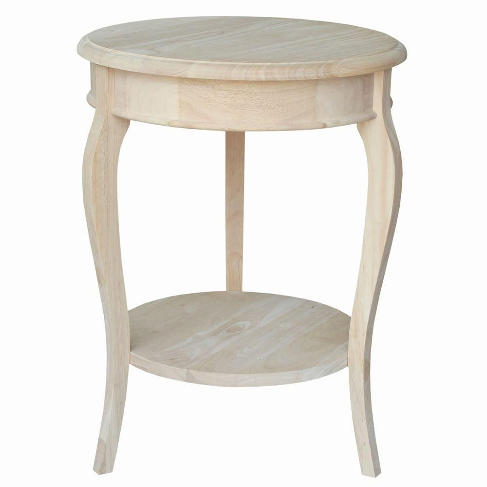 cambria unfinished end table wood accent pineapple lamp round placemats furniture bangalore white set bar height side chairs kitchen and dining room tables pier one imports sets
