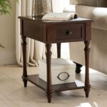 camden side table with charging station dark cherry accent tables mirrored bedroom end small stained glass lamp modern mats outdoor storage bin vanity home goods champagne 150x150