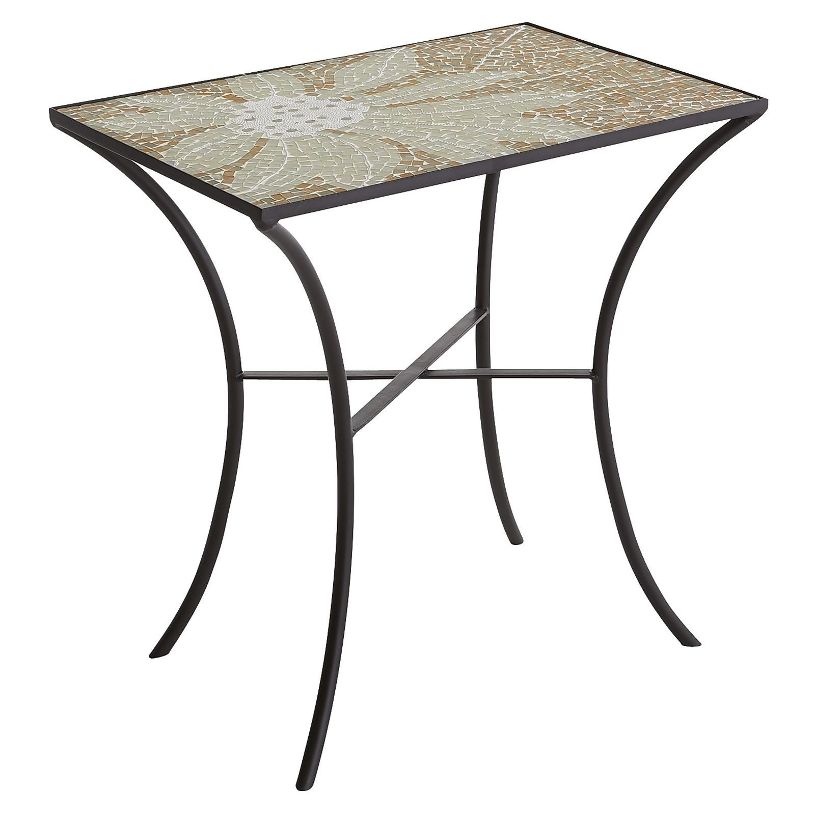 camellia accent table that speaks both form and function wrought iron tables glass top hand inlaid tiles glittering flower full bloom black modern side transition pieces for