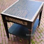can make this leopard zebra stencil print end table dark cherry accent tables thin console lamp shades glass top cocktail stickley desk liquor cabinet ikea solid oak furniture 150x150