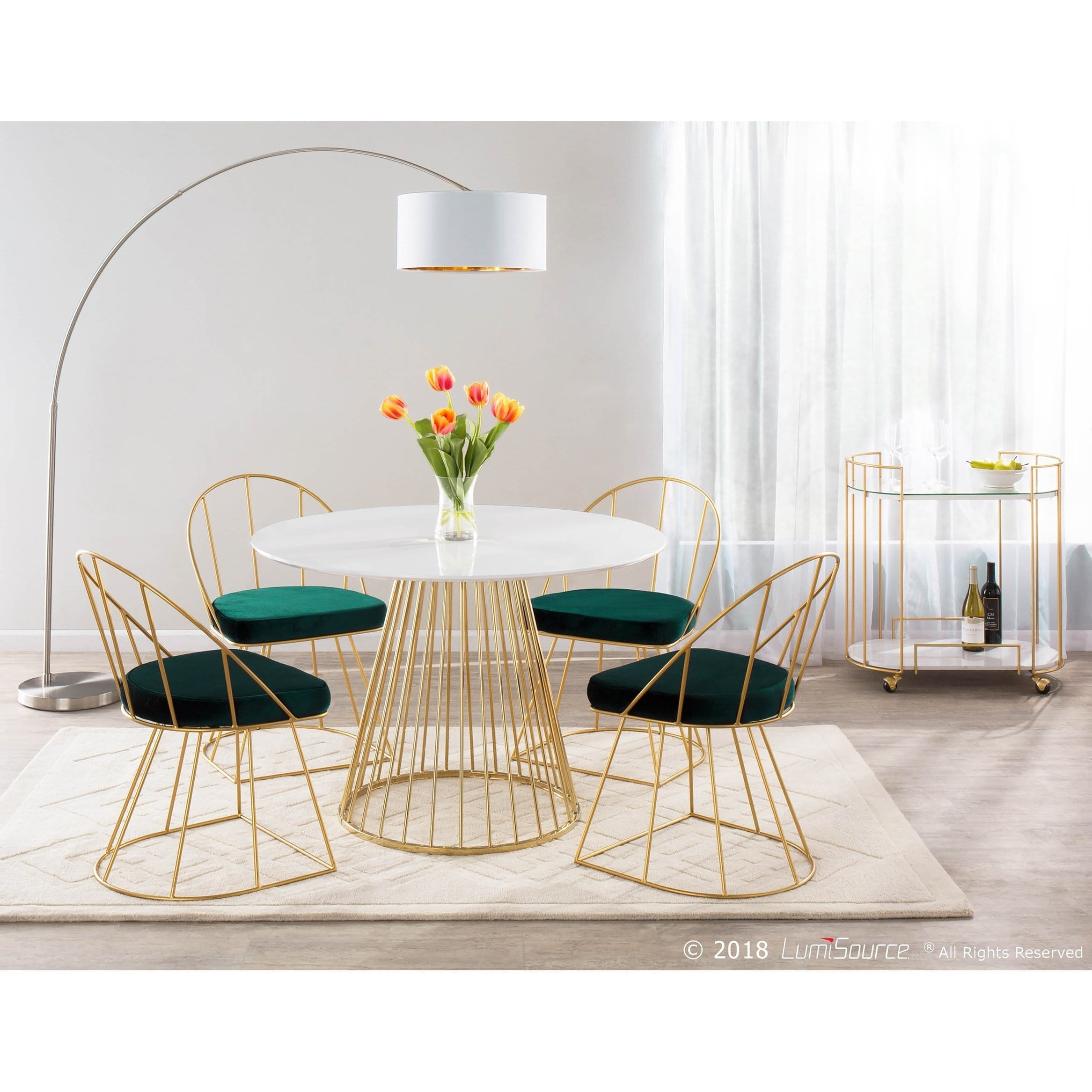 canary contemporary glam dining accent chair gold metal set table free shipping today black antique ikea book shelves mirimyn round hammered coffee patio cordless lamps leather