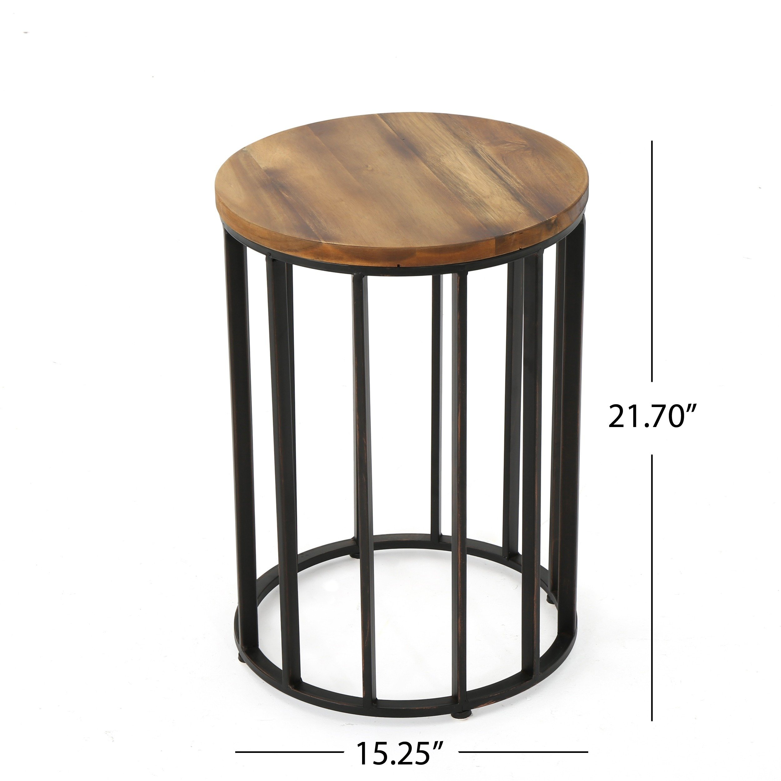 canary outdoor acacia wood round accent table christopher knight home metal and free shipping today little coffee high end furniture storage monarch specialties set computer desk
