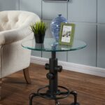candace basil furniture accent table antique black bronx pottery barn glass top dining round patio indoor outdoor tablecloth acrylic drink espresso end blue and white umbrella 150x150