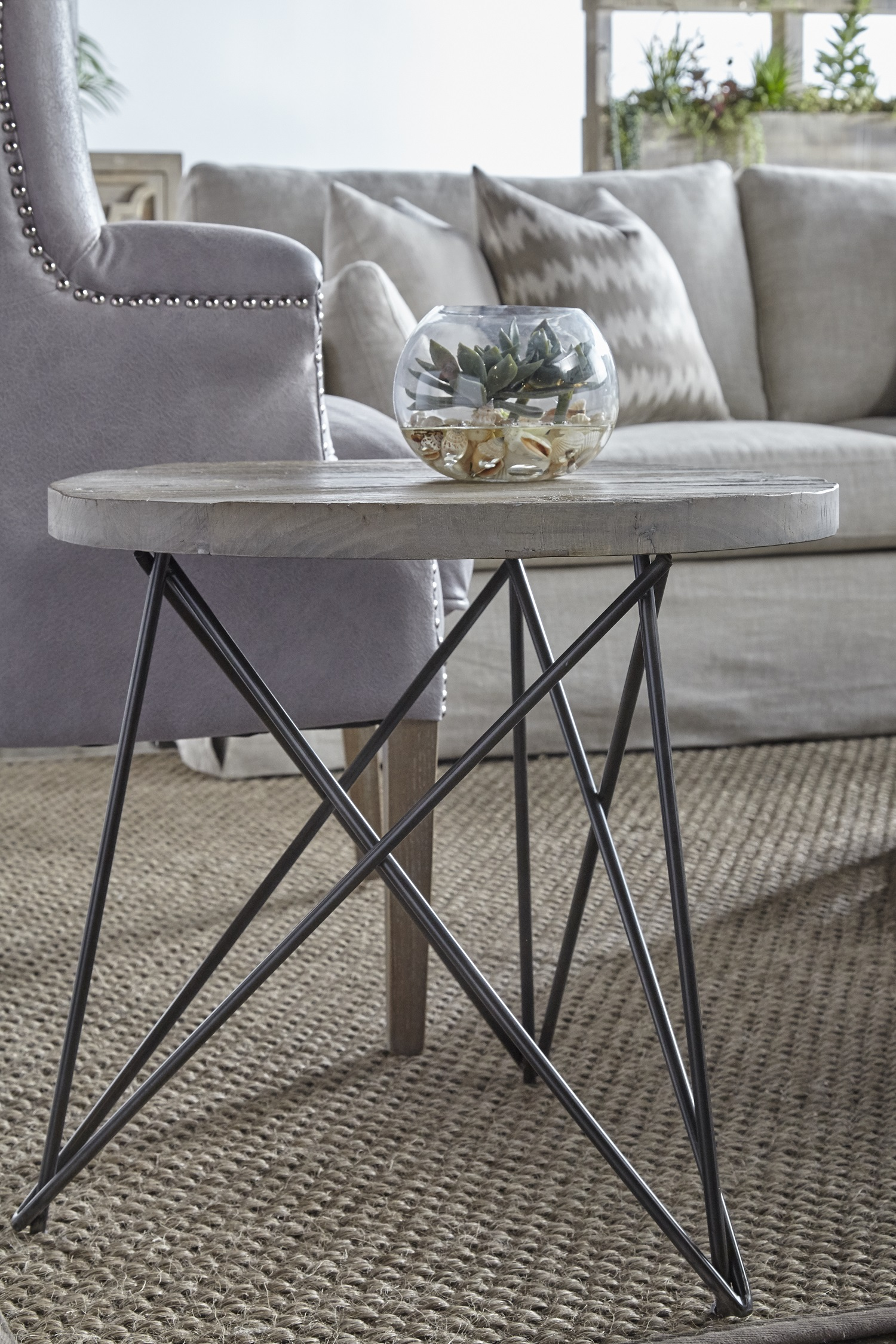 canvas accent table smoke gray detail metal folding two tier end retro ikea bedroom cupboards half moon wall gold center west elm coat rack homemade outdoor coffee black glass