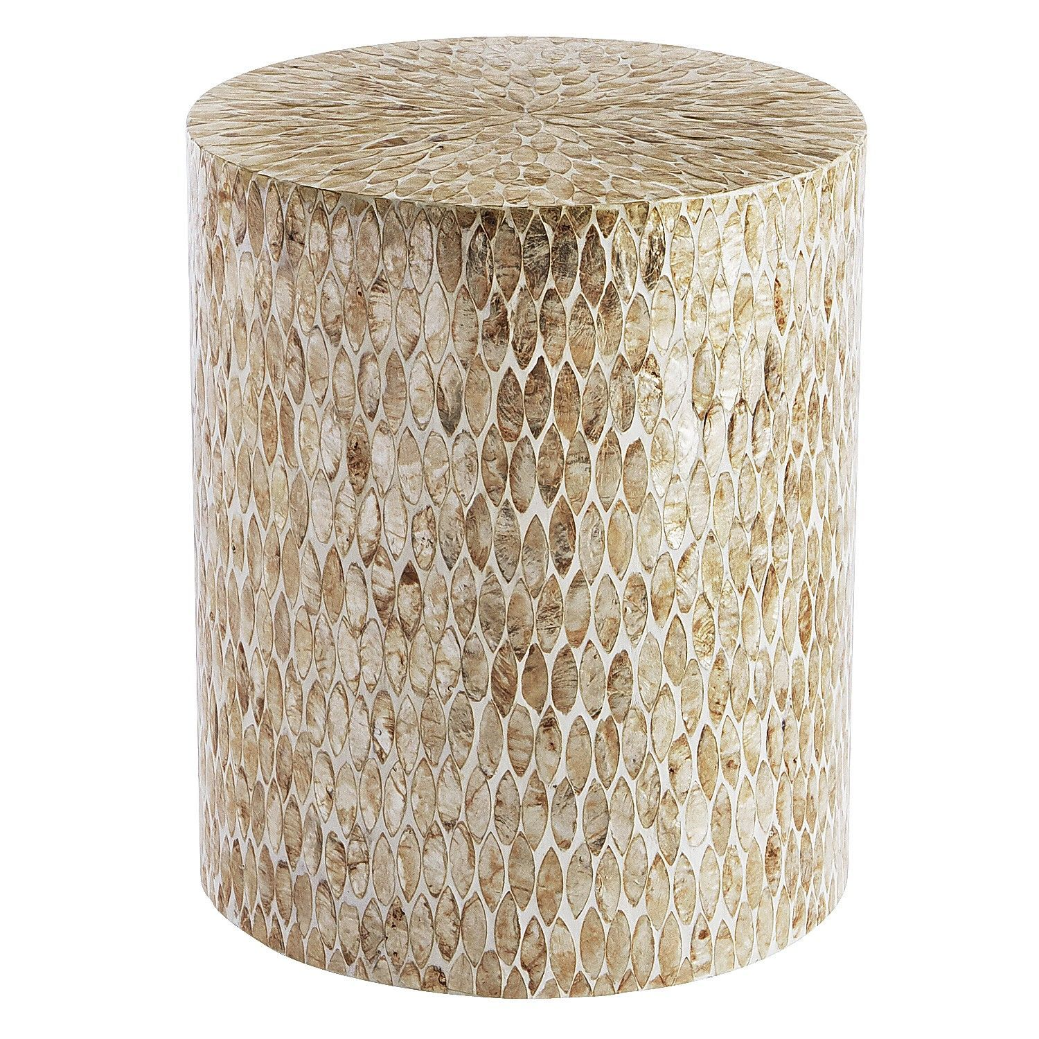 capiz round drum accent table tables coffee multi colored wood tiffany lily lamp white wooden bedside outdoor side wicker resin patio furniture cupcake carrier target small
