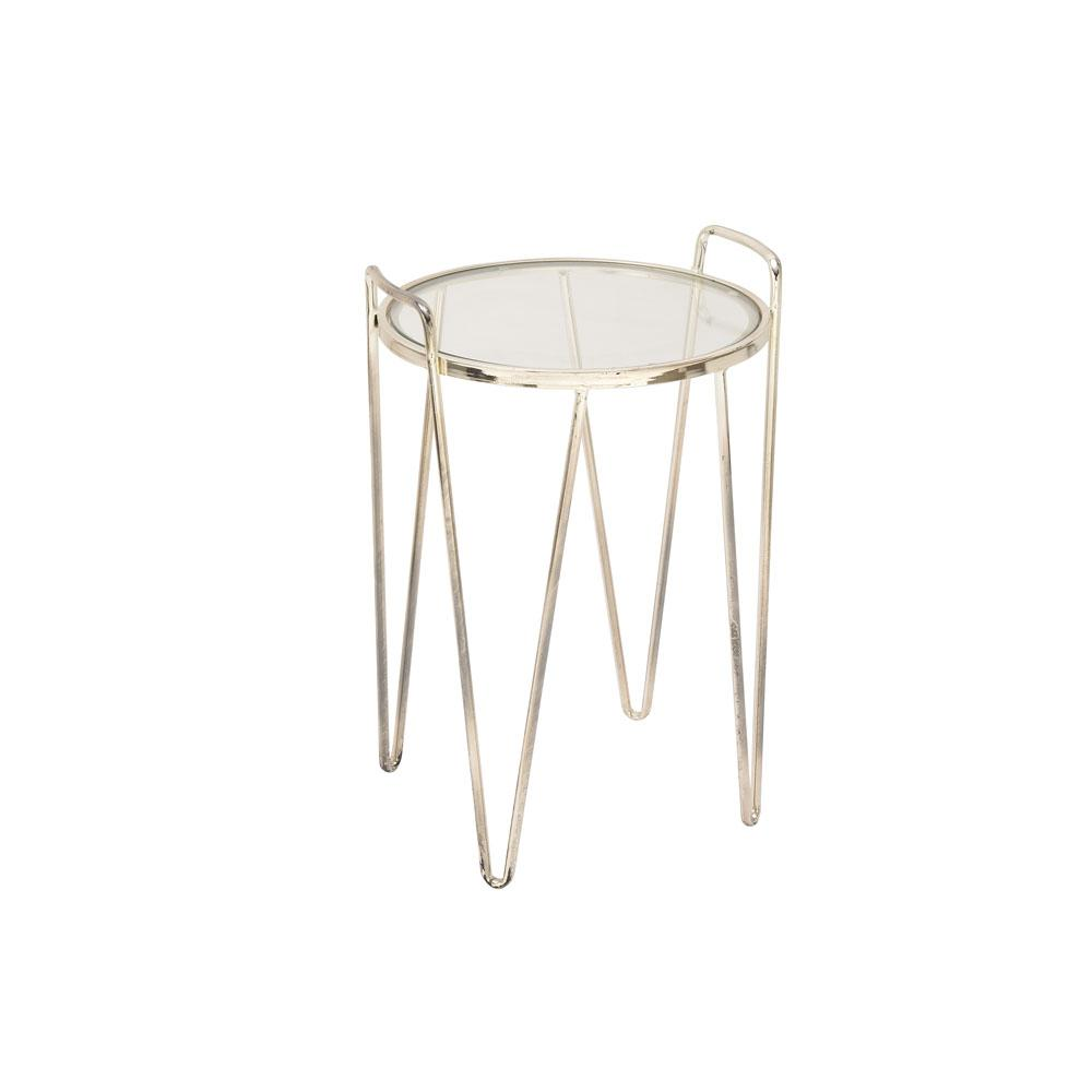 cappuccino end tables accent the clear litton lane nolan pedestal table glass with metallic silver tapered and curved legs mid century modern couch wipeable tablecloth white metal