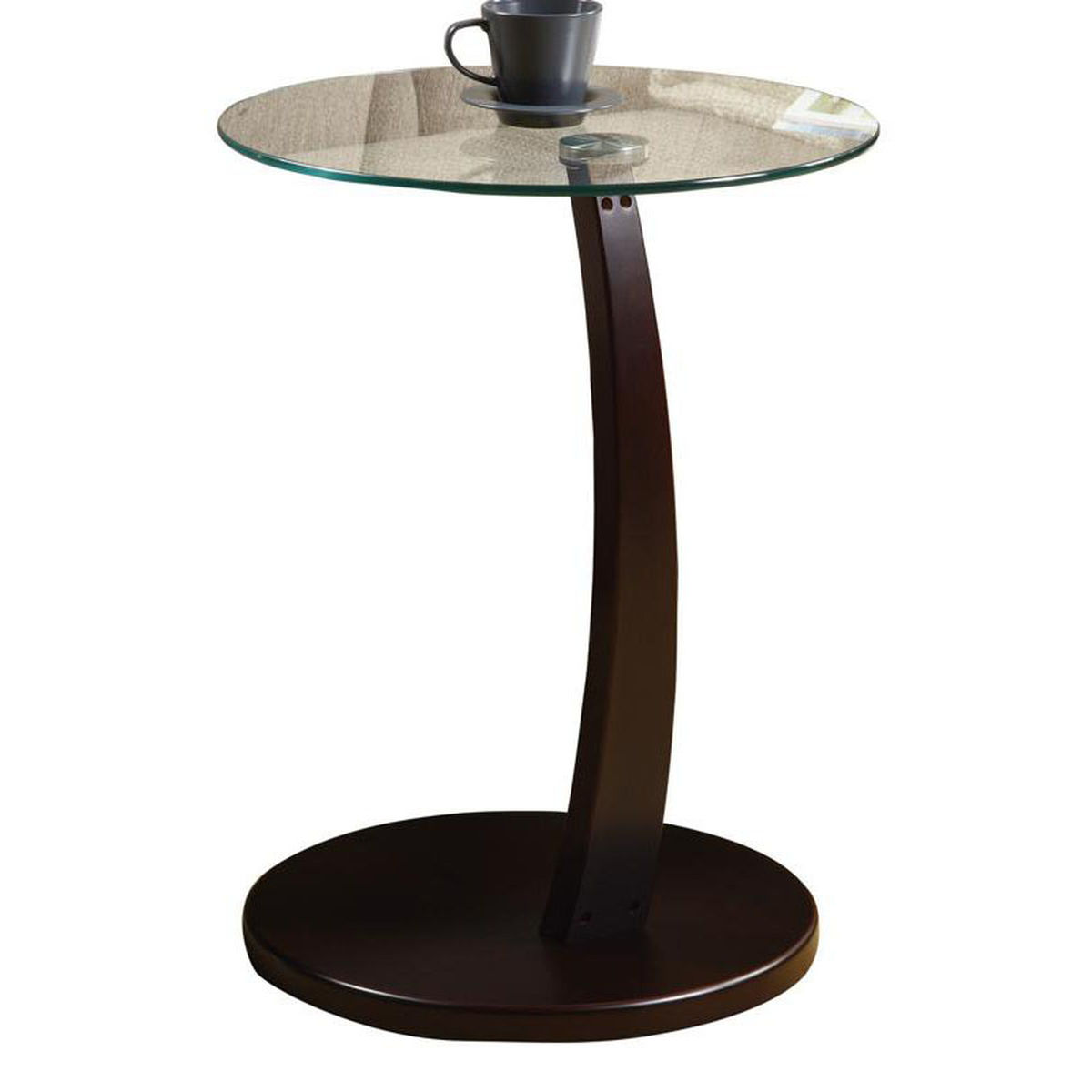 cappuccino glass top accent table bizchair monarch specialties msp main umbrella our bentwood slide under sofa with tempered round metal tray bbq grill side small folding sides