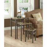 cappuccino marble bronze metal piece nesting table set monarch accent free shipping today contemporary wood side tables bistro and chairs magazine waterproof patio chair covers 150x150
