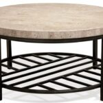 capri round coffee table frontroom furnishings pinebrook accent riverside small collapsible side hairpin dining grey bookshelf iron garage door threshold seal antique low unique 150x150