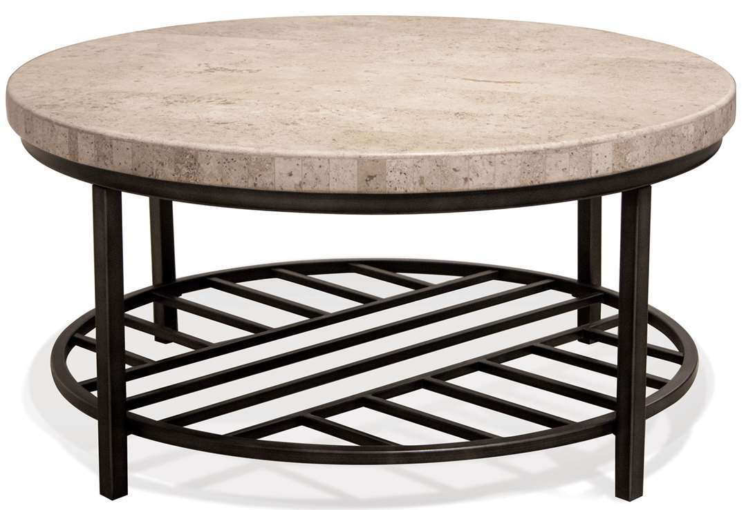 capri round coffee table frontroom furnishings pinebrook accent riverside small collapsible side hairpin dining grey bookshelf iron garage door threshold seal antique low unique