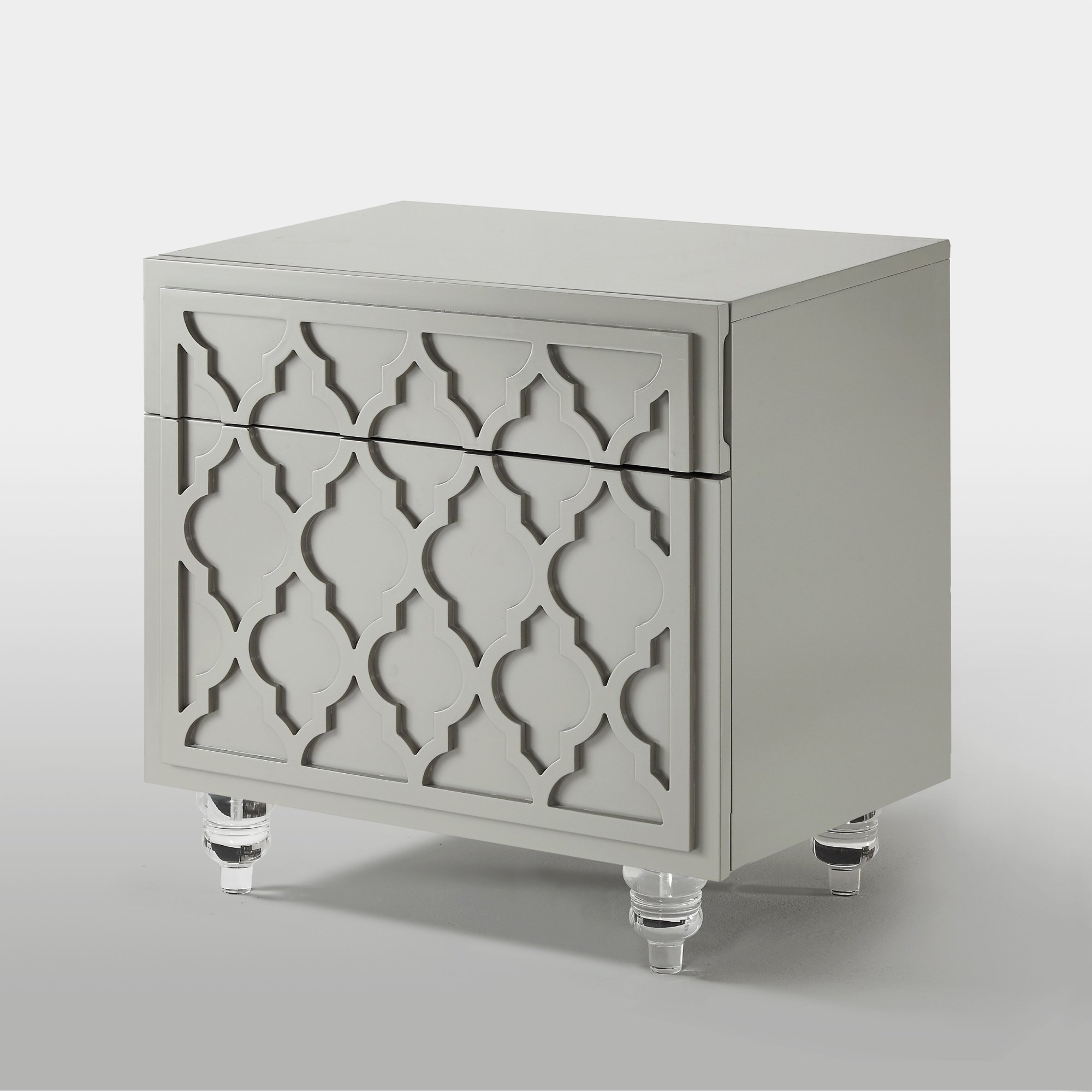 cara wood modern trellis lacquer side accent table nightstand mdf free shipping today target bar stools pottery barn christmas tablecloth for rectangle inexpensive console inch