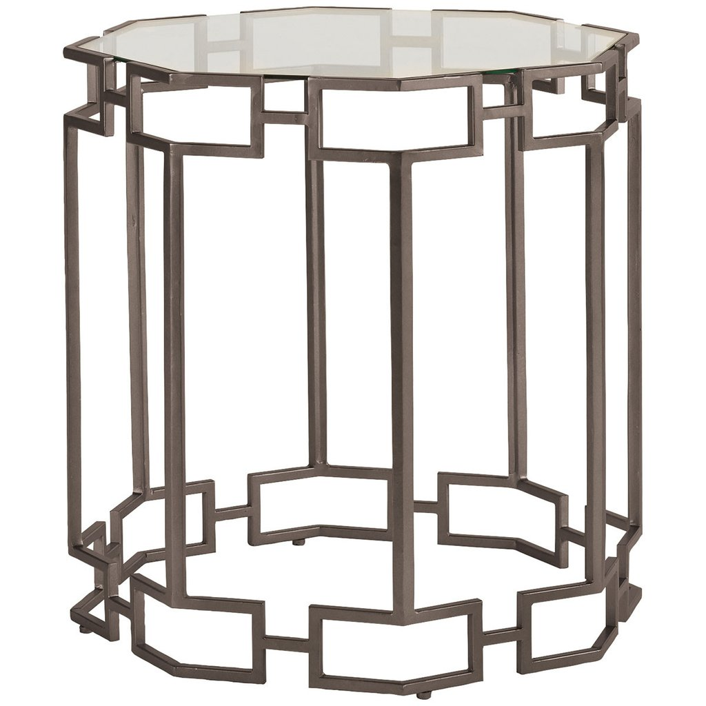 caracole accent tables bronze metal side table benjamin rugs next pier imports end patio sun shades hooker contemporary round living spaces dark gray homesense bar stools square