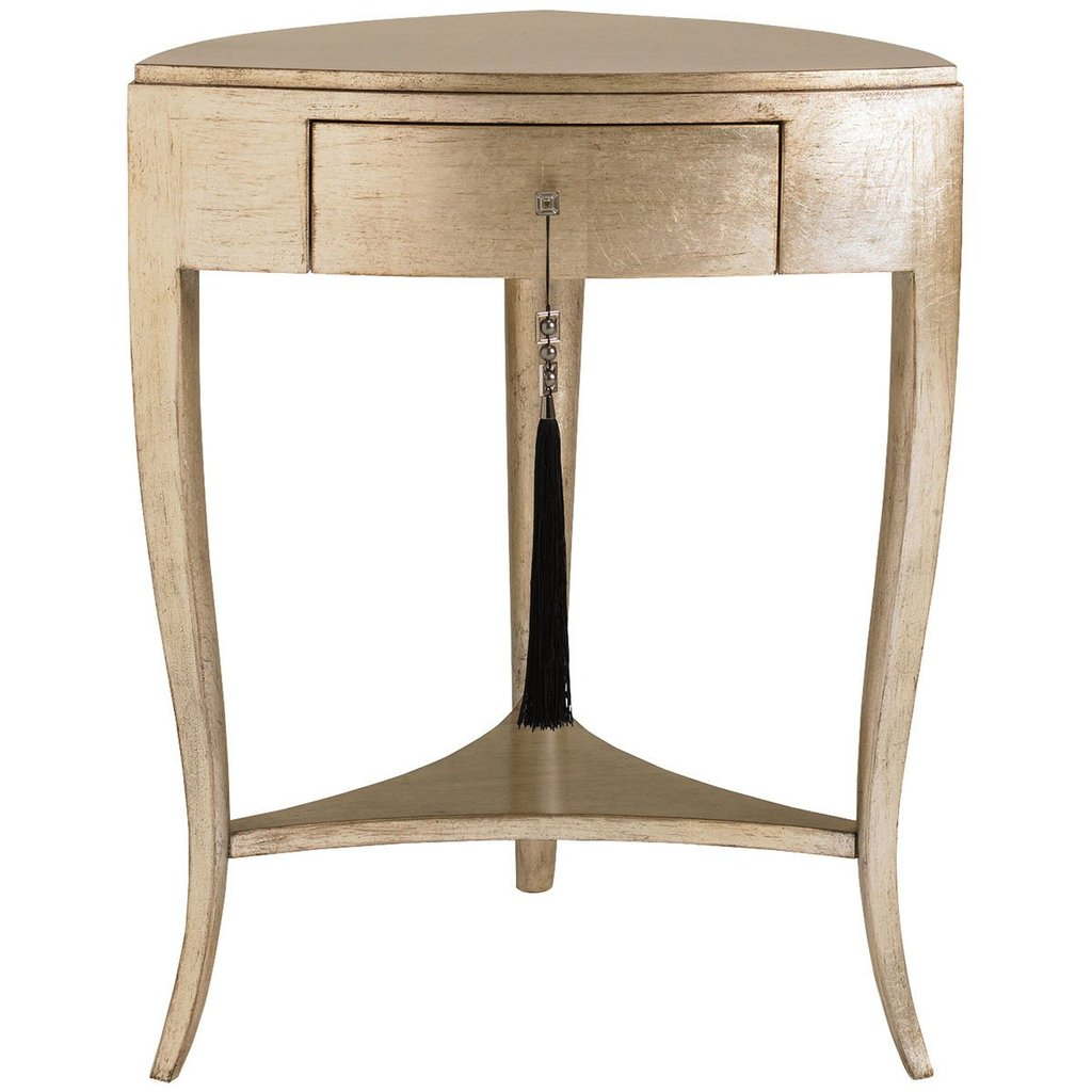 caracole accent tables pompeii gold metallic one drawer table with previous dining cover oval shape furniture covers home wall decor white and silver coffee painted bedside chests