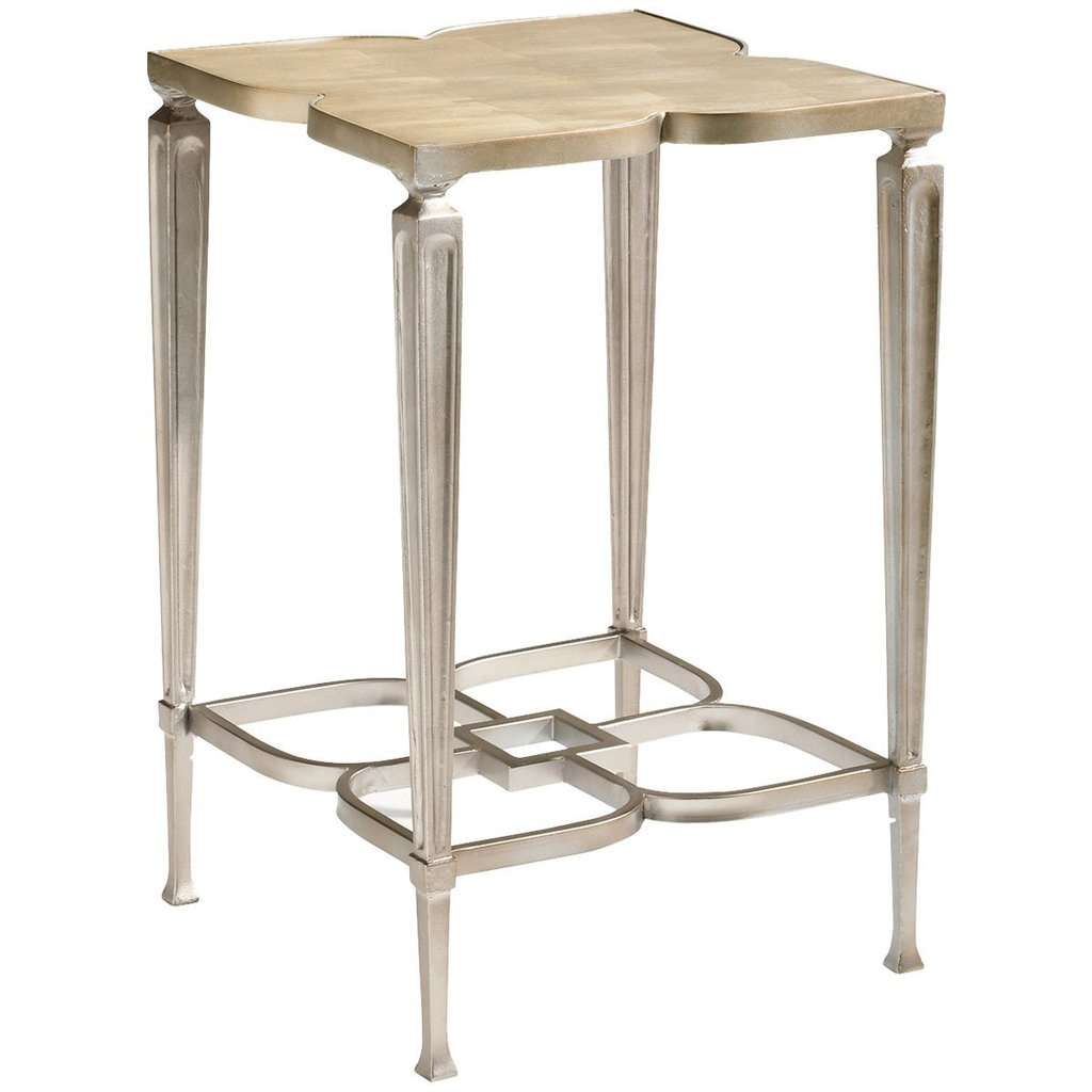 caracole accent tables taupe silver leaf square side table end stephanie cohen home free standing storage cabinet wicker outdoor furniture clearance oak breakfast bar stools